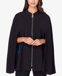 Tahari By Arthur S. Levine Asl Cape Jacket Black