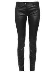 Balenciaga Skinny Leg Leather Trousers
