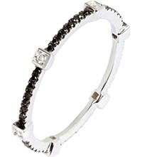Annoushka Pavilion Black Diamond 18Ct White Gold Eternity Ring