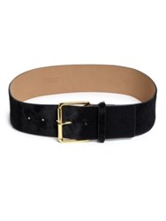 Streets Ahead Wide Calfskin Belt Black
