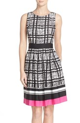 Women's Eliza J Houndstooth Print Fit And Flare Dress