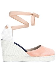 Manebi Manebi 'Hamptons' Wedge Espadrilles Pink And Purple