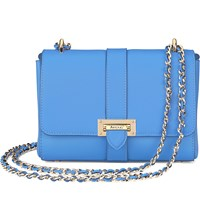 Aspinal Of London Lottie Chain Strap Leather Bag Forget Me Not