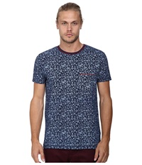 Deus Ex Machina Bob Floral Tee Indigo Men's T Shirt Blue