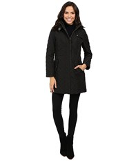 Cole Haan Signature Quilted Parka Black Women's Coat
