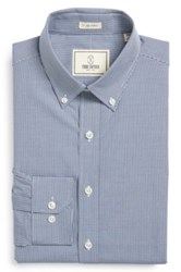 Todd Snyder Trim Fit Check Dress Shirt Blue