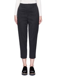 Vince 'Carrot' Cropped Cavalry Twill Pants Grey