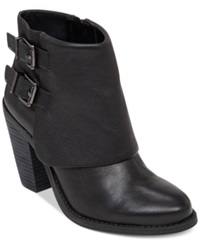 Jessica Simpson Cainn Foldover Booties Women's Shoes Black