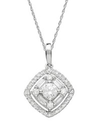 Lord And Taylor Diamond 14K White Gold Pendant Necklace