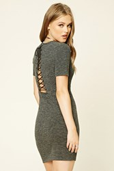 Forever 21 Lace Up Back T Shirt Dress