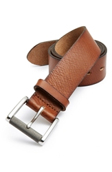 1901 Burnished Edge Leather Belt Tan