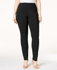 Alfani Plus Size Pull On Skinny Pants Only At Macy's Deep Black