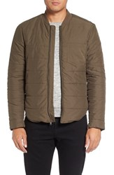 Michael Stars Men's Quilted Bomber Jacket