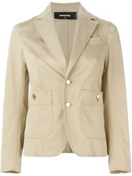 Dsquared2 Classic Blazer Nude And Neutrals