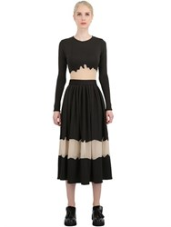 Natargeorgiou Neoprene And Techno Chiffon Dress