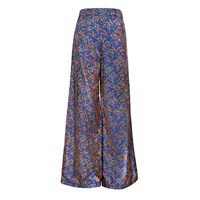 The Bee's Sneeze Flower Print Palazzo Trousers Blue