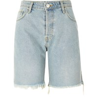River Island Womens Light Blue Wash Frayed Boyfriend Shorts