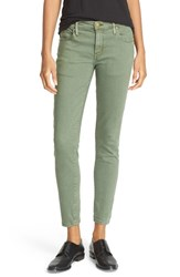 The Great Women's Great. Low Rise Skinny Jeans Olive Green