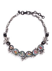 J.Crew Iridescent Crystal Necklace Multi Colour