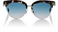 Fendi Women's Rounded Square Sunglasses Blue Brown No Color Blue Brown No Color
