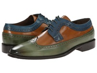 Messico Chamarel Green Honey Blue Men's Dress Flat Shoes