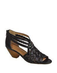 Corso Como Darren Leather Strappy Sandals Black