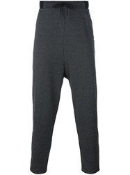Y 3 Cropped Drop Crotch Trousers Grey