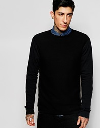 Only And Sons Textured Crew Neck Knitted Jumper Black
