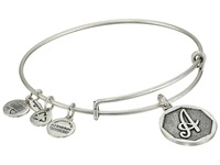 Alex And Ani Initial A Charm Bangle Rafaelian Silver Finish Bracelet