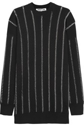Mcq By Alexander Mcqueen Chain Embellished Wool Sweater Black