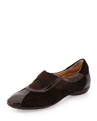 Sesto Meucci Bryna Shimmer Suede Combo Flat Bronze