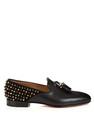 Christian Louboutin Tassilo Studded Leather Loafer Black