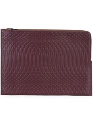 Paul Smith Jacquard Clutch Bag Pink And Purple