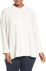 Eileen Fisher Plus Size Women's Silk Georgette Crepe Blouse