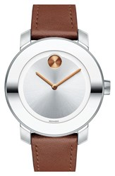 Women's Movado 'Bold' Leather Strap Watch 36Mm
