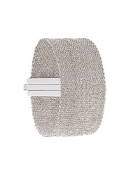 Carolina Bucci 18Kt White 'All Gold Woven' Bracelet Metallic