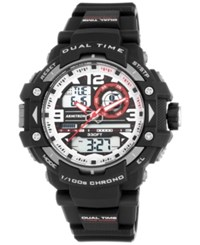 Armitron Men's Analog Digital Chronograph Black Resin Bracelet Watch 53Mm 20 5062Red