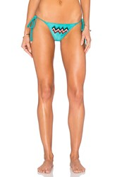 My Own Summer Beaded Trancoso Bikini Bottom Teal