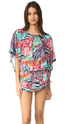 Luli Fama Like A Flame South Beach Dress Multi