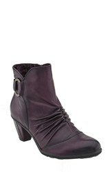 Earthr Women's Earth 'Topaz' Cap Toe Bootie Prune Leather