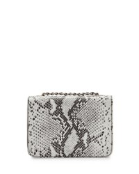 Channing Claire Boxy Leather Crossbody Bag White Black