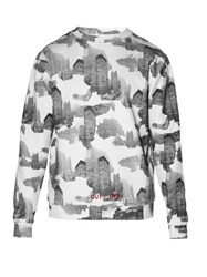 Off White Architectural Camo Print Sweatshirt White Multi