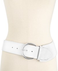Styleandco. Style And Co. Casual Asymmetrical Stretch Belt Only At Macy's White