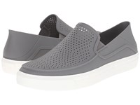 Crocs Citilane Roka Slip On Smoke White Men's Slip On Shoes Gray