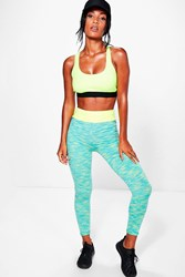Boohoo Bright Fitted Leggings Green