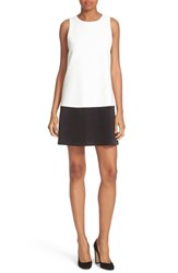 Alice Olivia Women's Dorma Colorblock Shift Dress Off White