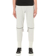 Blood Brother Cycle Zipped Knee Jersey Jogging Bottoms Grey