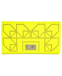 Danielle Nicole Willa Small Clutch Neon Yellow