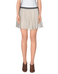 Twenty Easy By Kaos Skirts Mini Skirts Women Ivory
