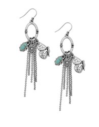 Lucky Brand Turquoise Natives Tribal Charm Earrings